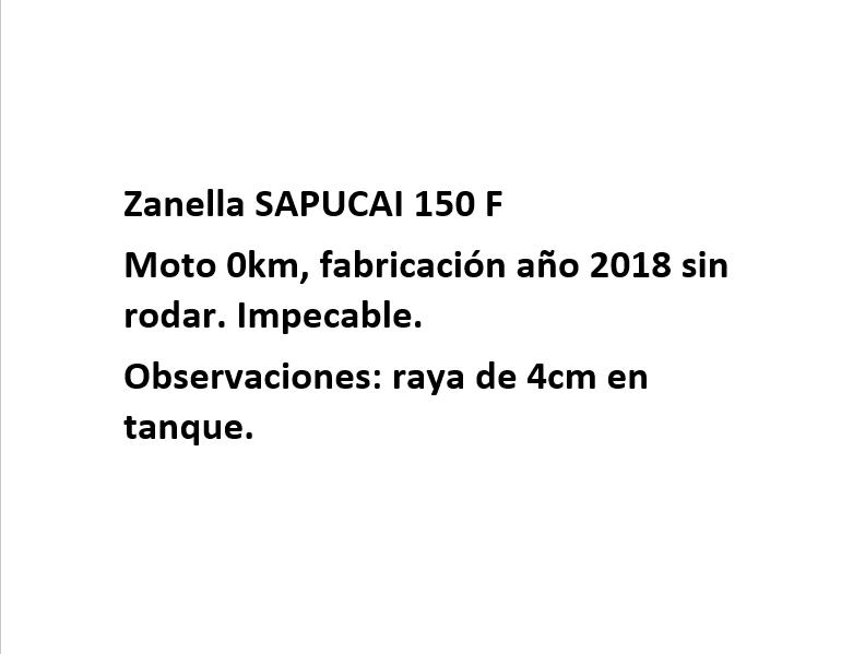 Moto Zanella Sapucai 150 Full Outlet