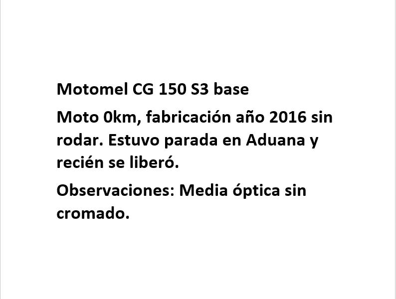Moto Motomel CG 150 S3 Base linea 2015