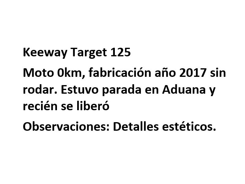 Moto Keeway Target 125 promo fab 2017
