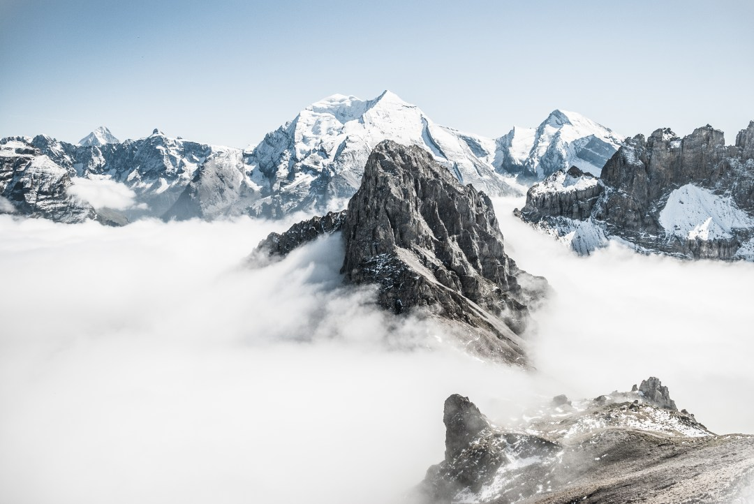 Fall Landscape Wallpaper Desktop Mountain Tops Above Clouds Photo By Samsommer