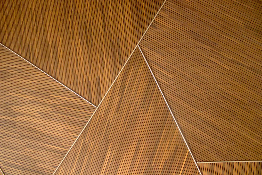 Geometric wood pattern photo by Teo Duldulao