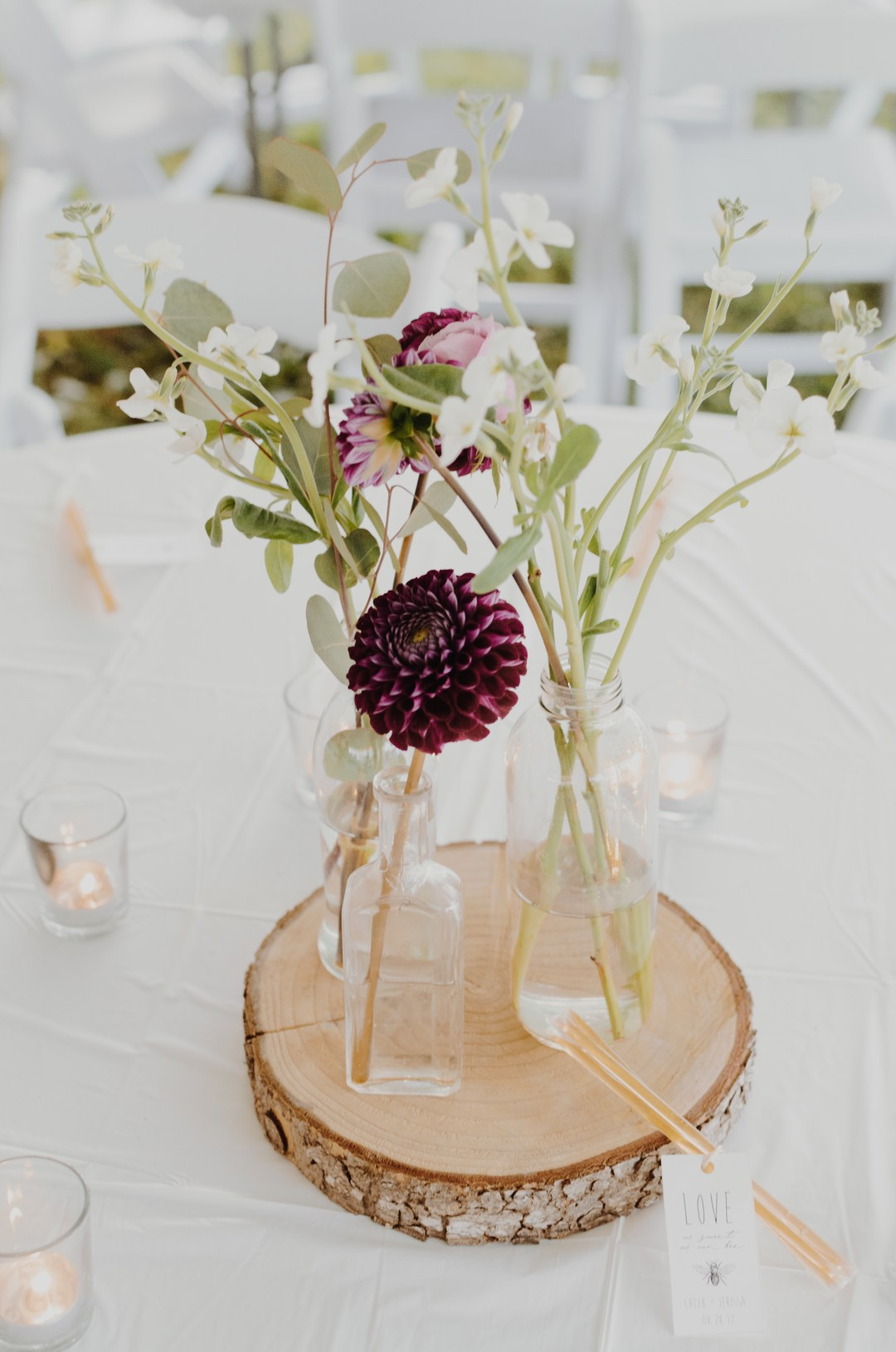 Wedding Reception Centerpiece photo by Kelly Sikkema