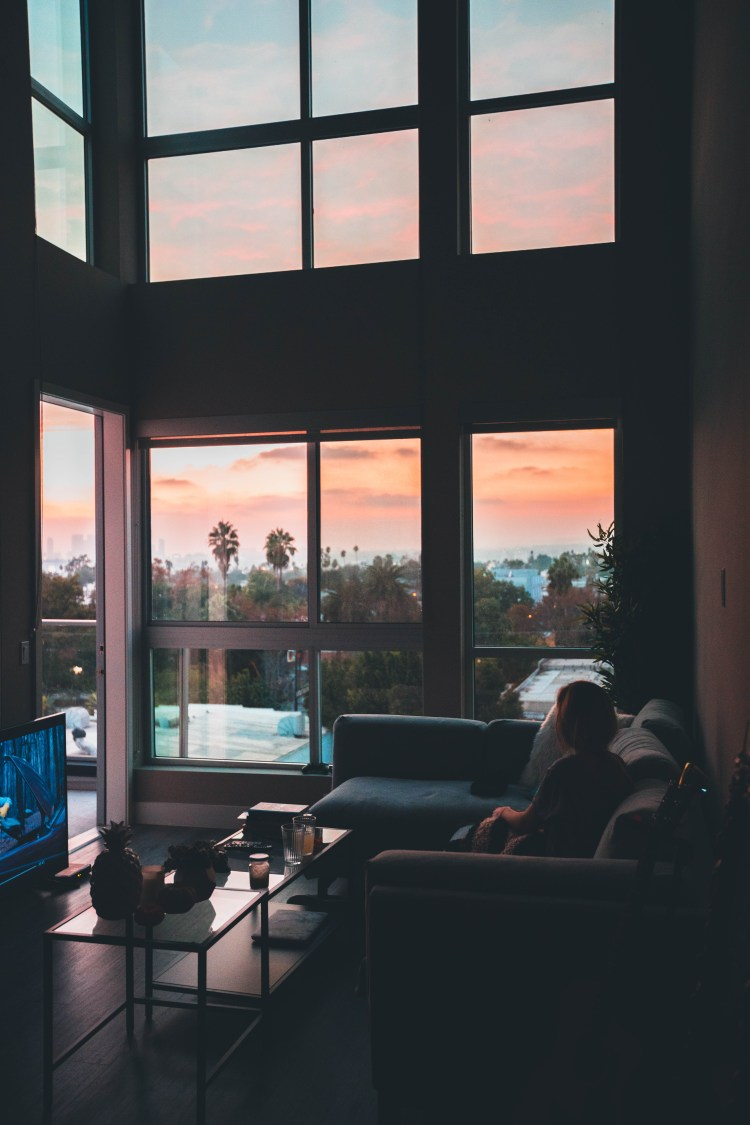 House home apartment and sunset HD photo by Roberto