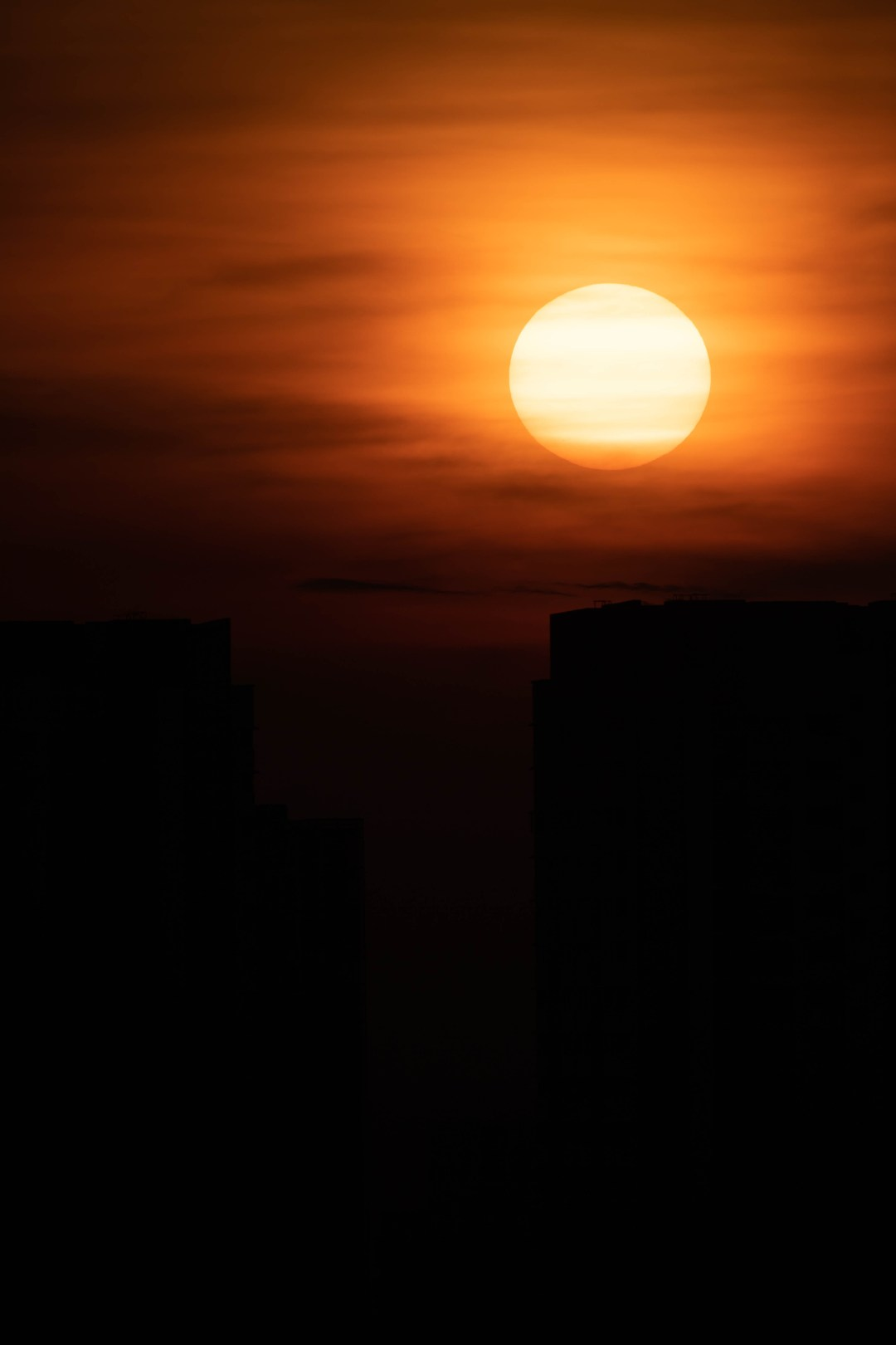 Moon Wallpaper Hd Orange Sky Sun Light Sunset And Landscape Hd Photo By