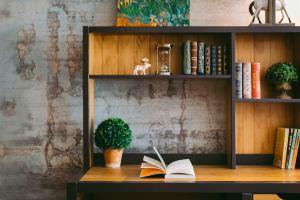 bookshelf desk unfold