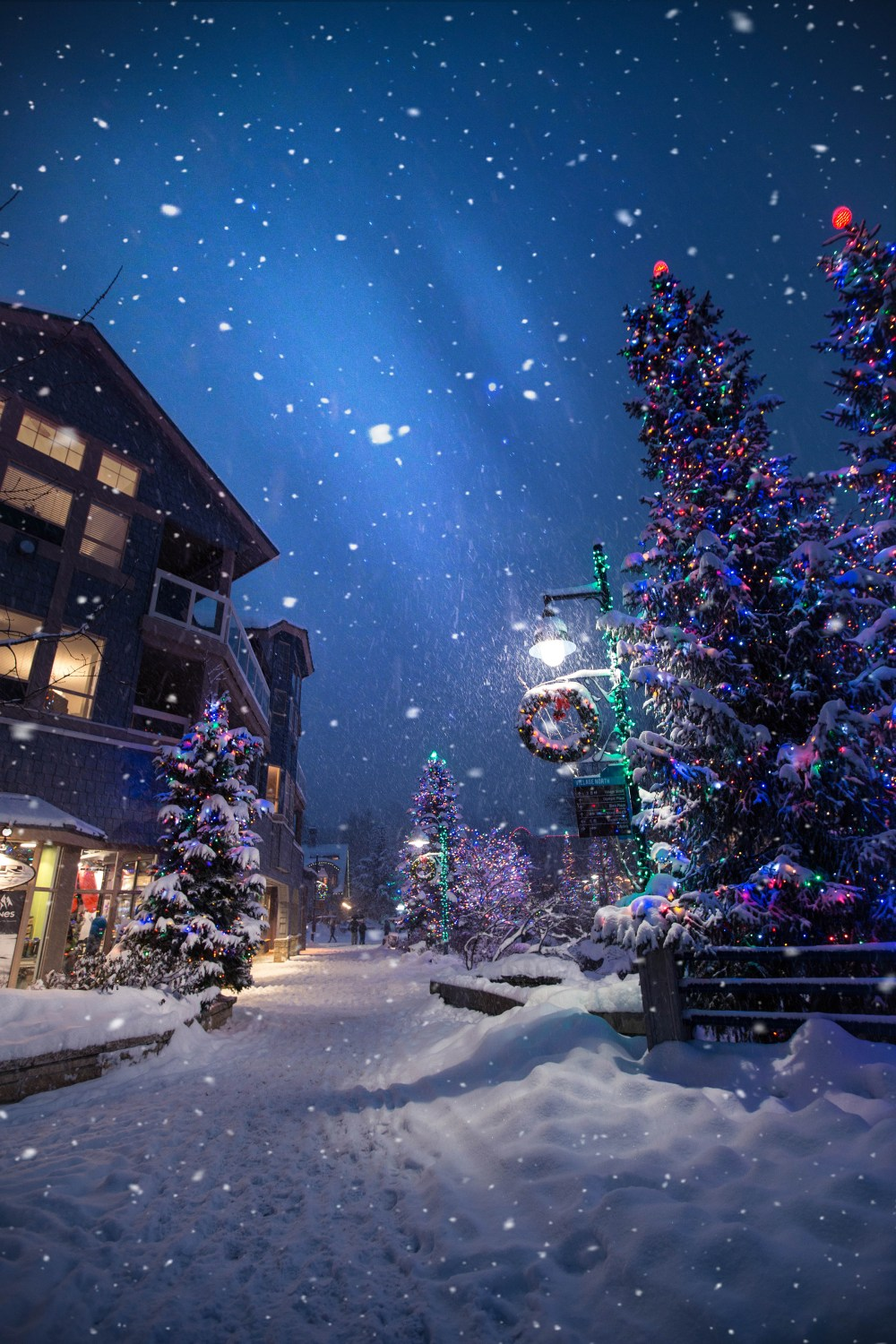 Falling Snow Live Wallpaper For Iphone Magic In The Whistler Village Photo By Roberto Nickson G