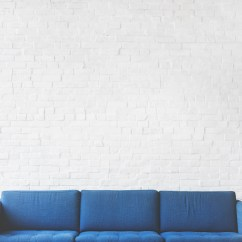 Wall Sofa Leather Sleeper Austin Tx Chair Minimal And Brick Hd Photo By Rawpixel On Blue 3 Seat Near White