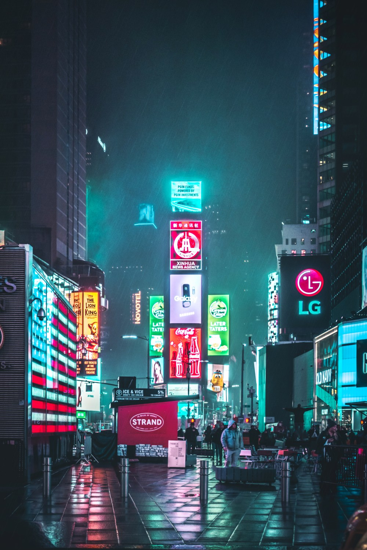 Wallpaper Neon City : wallpaper, Pictures, Download, Images, Unsplash
