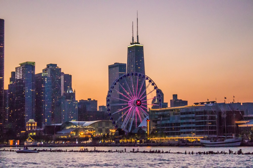 the chicago skyline as