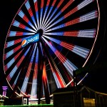 Yellow Green And Red Ferris Wheel During Night Time Photo Free Ocean City Image On Unsplash