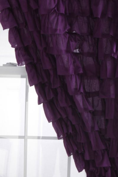 Waterfall Ruffle Curtain  Urban Outfitters