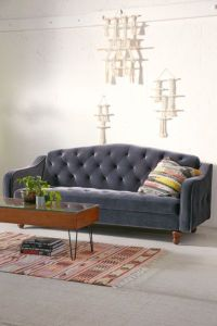 Ava Velvet Tufted Sleeper Sofa - Urban Outfitters