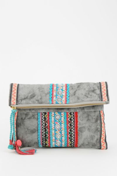 Ecote Tea Stand Embroidered Crossbody Clutch Urban