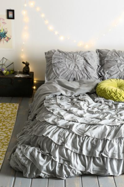 Urban Duvet Outfitters Cover Ruffle