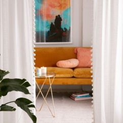 Urban Outfitters Living Room Ideas Images Colors Campus Dorm College Apartment Decor Pompom Curtain