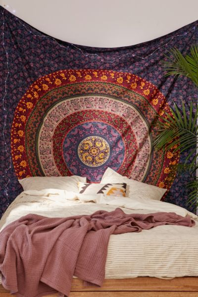 Plum  Bow Medallion Tapestry  Urban Outfitters