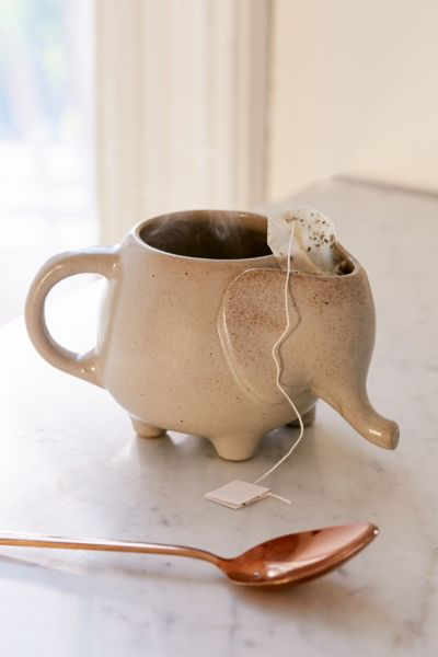 Plum Bow Elephant Tea Mug Urban Outfitters