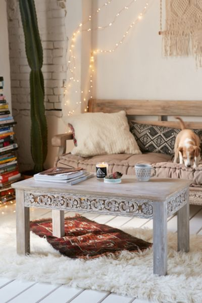 standard sofa length and width carpet cleaning rashmi carved coffee table - urban outfitters