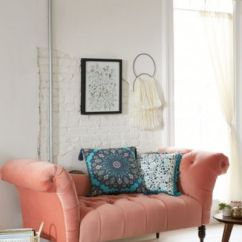 Fainting Sofa Purple Best Cleaning In Bangalore Antoinette Coral Urban Outfitters Slide View 1
