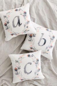 Iveta Abolina For Deny Pink Summer Monogram Pillow | Urban ...
