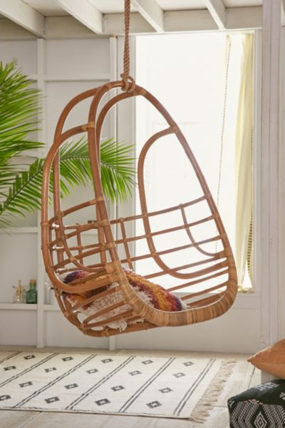 hanging chair wood dining chairs with arms upholstered tenley rattan swing urban outfitters