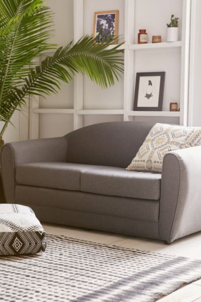 berwick mid century sleeper sofa simmons upholstery and loveseat apartment sofas + couches - urban outfitters
