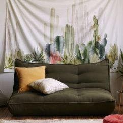 Kitchen Curtains Blue Wooden Stools Cactus Landscape Tapestry | Urban Outfitters