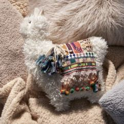 Urban Outfitters Chair Red Nwpa Furry Llama Pillow |