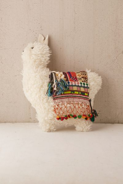 double lounge chair stand test drawing furry llama pillow | urban outfitters