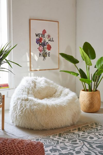 Aspyn Faux Fur Shag Bean Bag Chair  Urban Outfitters