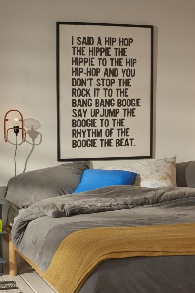 Honeymoon Hotel Rappers Delight Art Print  Urban Outfitters
