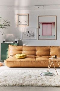 Greta Recycled Leather XL Sleeper Sofa | Urban Outfitters