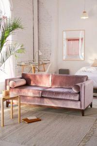 Piper Petite Velvet Sofa | Urban Outfitters