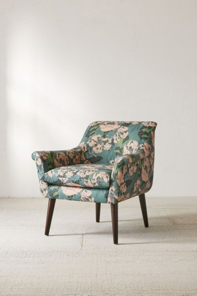 floral arm chair dining room covers from ikea polly print urban outfitters slide view 1