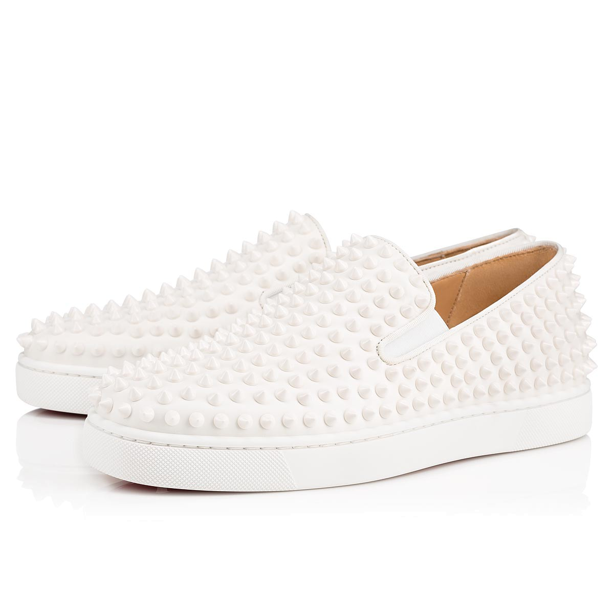 White Leather Slip On Sneakers Mens
