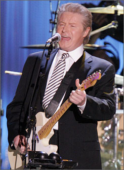 Honoree Don Henley performs Boys of Summer at the MusiCares Person of the Year event.