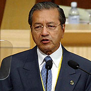 Just-retired Malaysian Prime Minister Mahathir Mohamad