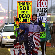 Westboro Baptists picketers