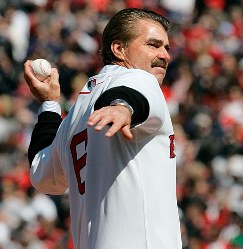 Buckner throws out the first pitch