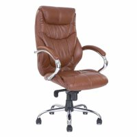 Vale Furnishers Executive Office Chair in Tan Leather