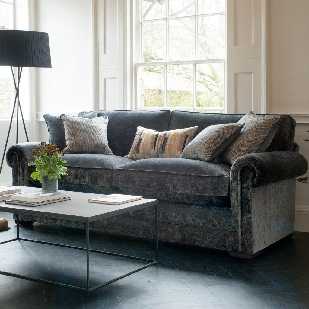 parker knoll canterbury sofa bed dark brown microfiber grand vale furnishers