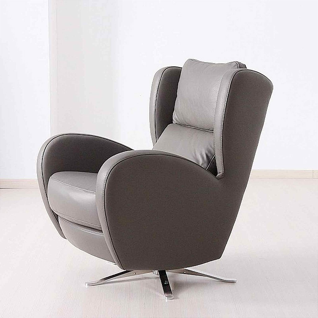 leather swivel chair lounge steel base vale furnishers morgan