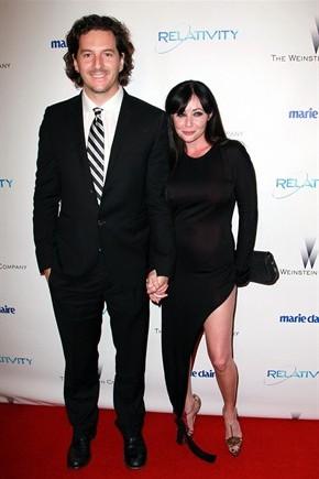 Shannen Doherty con il marito Kurt Iswarienko (Getty Images)
