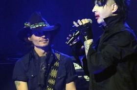 Johnny Depp e Marilyn Manson insieme sul palco (AP/LaPresse)