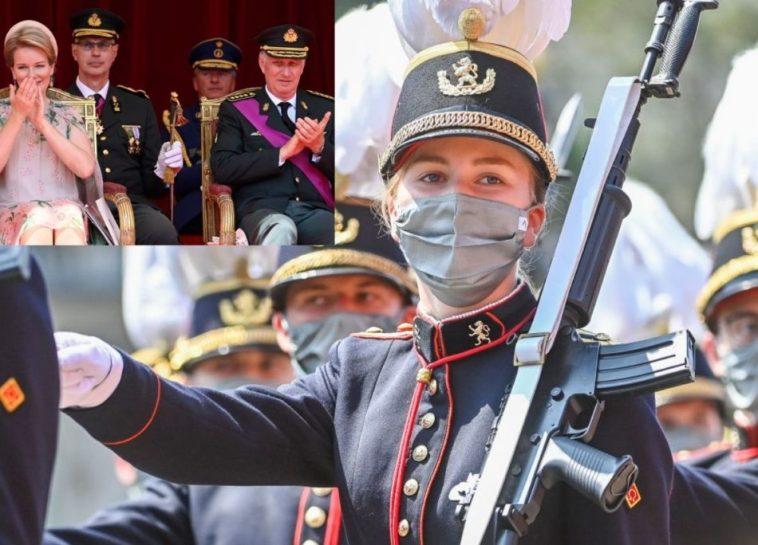 Elisabetta del Belgio, la prima parata militare della futura regina