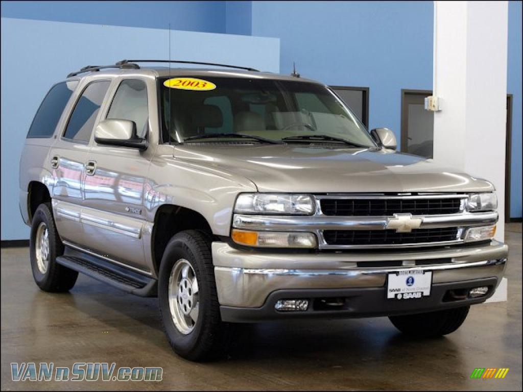 hight resolution of 2003 tahoe lt 4x4 light pewter metallic tan neutral photo 1