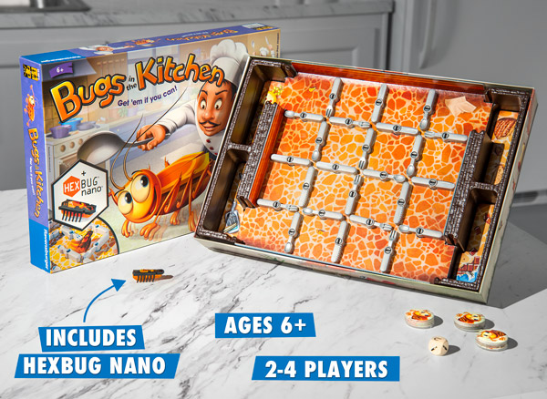kitchen game bella bugs in the fast paced family board with a bug bot