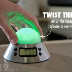 Loud Kitchen Timer Black Knobs Color Alert Changes According To How Much Time Set The By Twisting Knob On Top Of