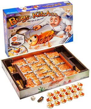 kitchen game bar lights bugs in the fast paced family board with a bug bot