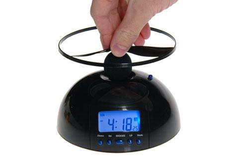 flying alarm clock trouble